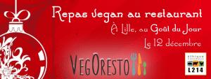 Repas 100% végétal - Lille - Décembre