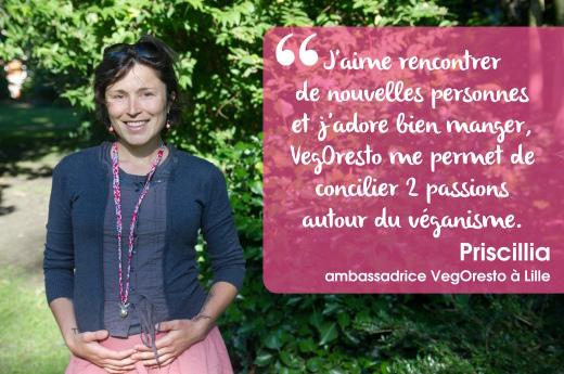 Priscillia, ambassadrice VegOresto à Lille