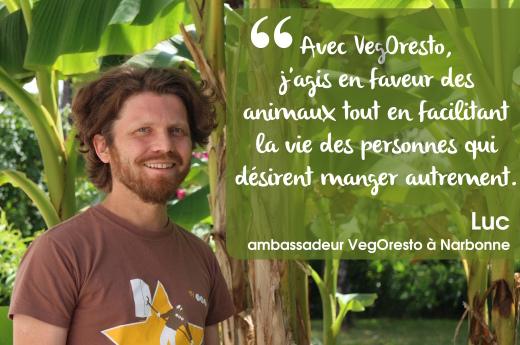 Luc, ambassadeur VegOresto à Narbonne