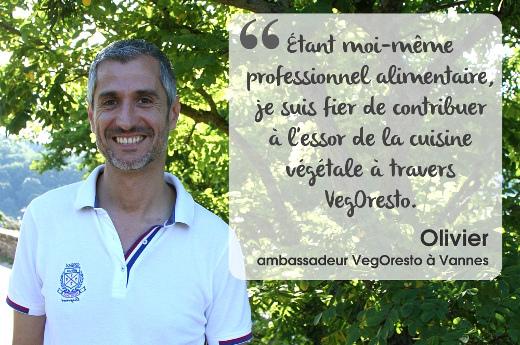 Olivier, ambassadeur VegOresto à Vannes