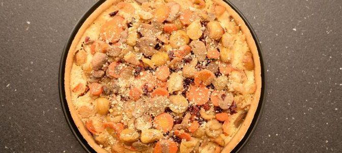 Quiche aux champignons, châtaignes, carottes et cranberries (12)